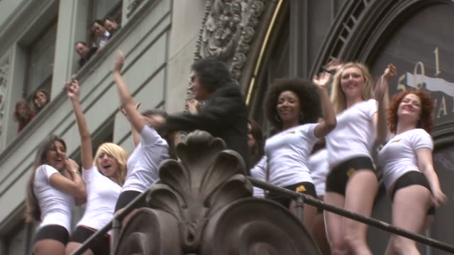 gene simmons and models at the world's first 'assvertising' campaign created by gene simmons and 25 female models at hard rock cafe in new york, new... - hard rock cafe stock videos & royalty-free footage