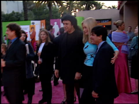 gene simmons at the 'austin powers, the spy who shagged me' premiere at universal amphitheatre in universal city, california on june 8, 1999. - gene simmons stock videos & royalty-free footage