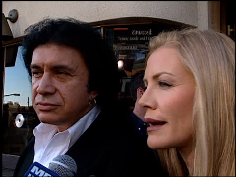 gene simmons at the premiere of 'the general's daughter' at the mann festival theater in westwood, california on june 15, 1999. - gene simmons stock videos & royalty-free footage