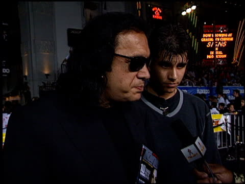 gene simmons at the premiere of 'the tuxedo' at grauman's chinese theatre in hollywood, california on september 19, 2002. - gene simmons stock videos & royalty-free footage