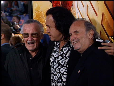 gene simmons at the 'spiderman' premiere on april 29 2002 - film premiere stock videos & royalty-free footage