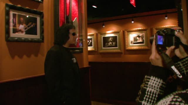 gene simmons at the world's first 'assvertising' campaign created by gene simmons and 25 female models at hard rock cafe in new york, new york on... - gene simmons stock videos & royalty-free footage