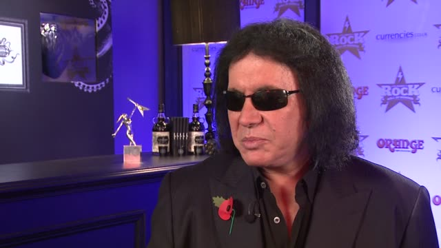 stockvideo's en b-roll-footage met gene simmons on his work ethics one of his companies ortsbocom at the gene simmons interview at london england - gene simmons