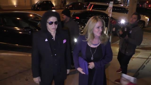 stockvideo's en b-roll-footage met gene simmons shannon tweed at craig's in west hollywood in celebrity sightings in los angeles - gene simmons