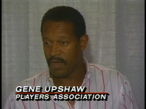 gene upshaw, associate executive director of the national football league's players' association, says that the team owners wanted to walk out of... - executive director stock videos & royalty-free footage