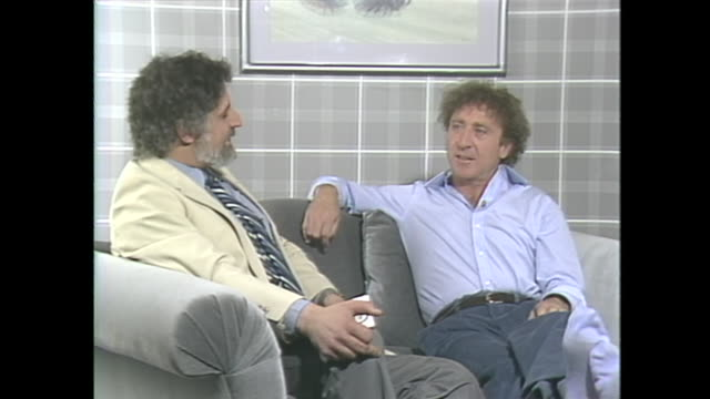 "in the hospital they had us watch a film called ""shades of grey"" which reminds me of this room and from their point of view mental health was not... - gene wilder stock videos and b-roll footage"