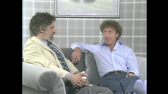 so many people when they heard i was going to interview gene wilder they just assume that as a person you're imbued with that kind of hysteria that... - gene wilder stock videos and b-roll footage
