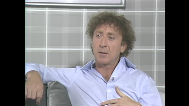 "we would've done films together in the last 3 or 4 years certainly if he hadn't made that decision but i said ""you do whatever you want to do but i'm... - gene wilder stock videos and b-roll footage"