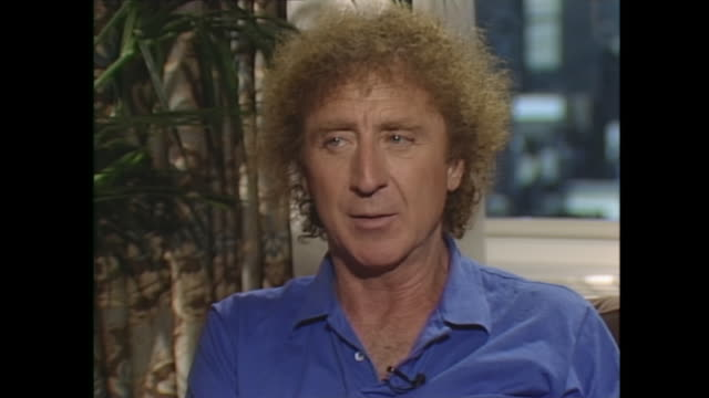 well i wouldn't say… the in vitro fertilization section was because i thought it wouldi talked to the director leonard nimoy about how to make this... - gene wilder stock videos and b-roll footage