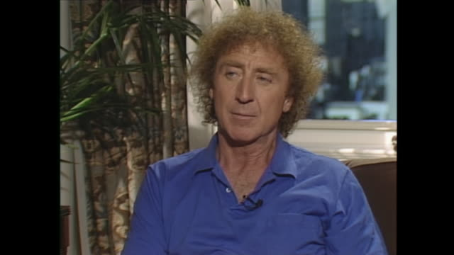 when a man i think the usual situation would be a man reaches a certain age and realizes that he's not going to live forever he can actually it's... - gene wilder stock videos and b-roll footage