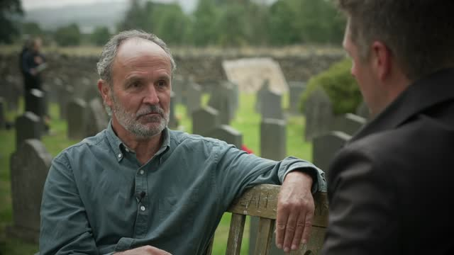 church of england's graveyards to be photographed and digitised to create national database; england: cumbria: keswick: ext gravestones in church of... - rucksack stock videos & royalty-free footage