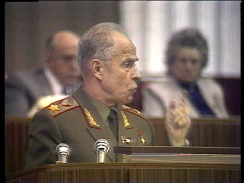 a general and other representatives reactions to andrey sakharov's report on soviet army's behaviour in afghanistan speeches and debates before... - former soviet union stock videos & royalty-free footage