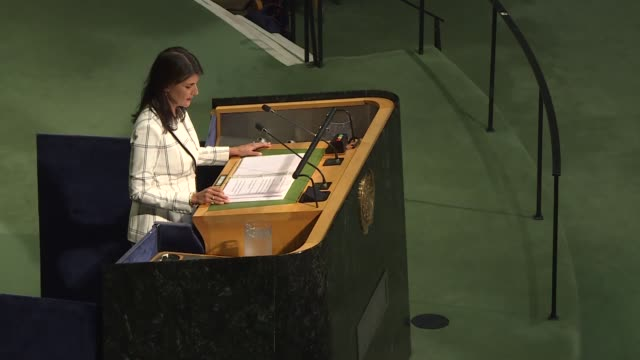 general assembly adopted a resolution deploring the use of excessive, disproportionate and indiscriminate force by israeli forces against palestinian... - united nations general assembly stock videos & royalty-free footage