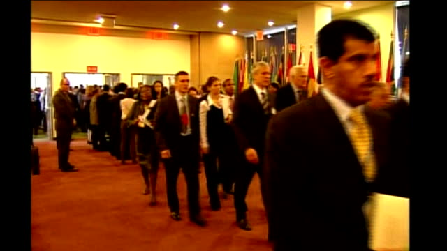 gordon brown visit; delegates from auditorium - united nations general assembly stock videos & royalty-free footage