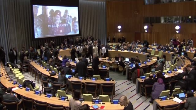 general assembly holds a session on gender equality and empowerment of women at un headquarter in new york, united states on 6 march, 2015. - united nations general assembly stock videos & royalty-free footage
