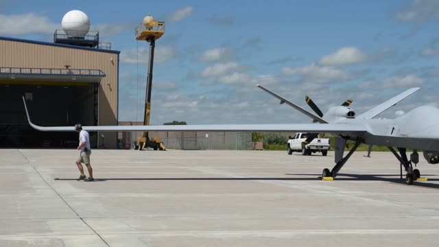 General Atomics Aeronautical Systems company owned MQ9B SkyGuardian Remotely Piloted Aircraft is scheduled to fly from the company's Flight Test and...