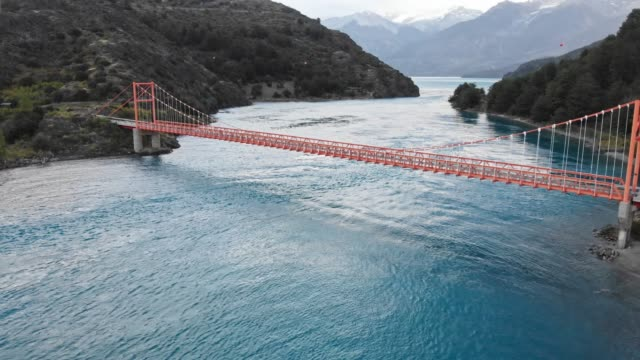 general carrera bridge in the chilean patagonia - south stock videos & royalty-free footage