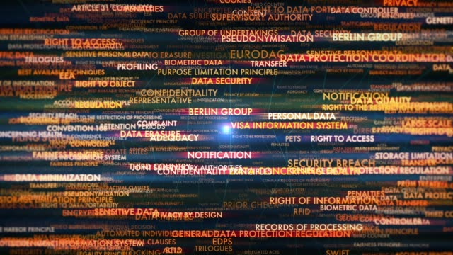 general data protection regulation terms - law stock videos and b-roll footage