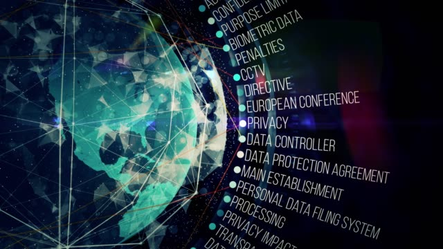 general data protection regulation terms - law stock videos & royalty-free footage