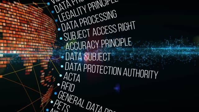termini generali per la regolamentazione della protezione dei dati - law video stock e b–roll