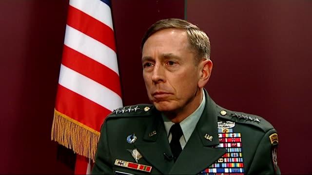 General David Petraeus interview on current operations in Afghanistan General David Petraeus interview SOT On presence of AlQaeda in Yemen / should...