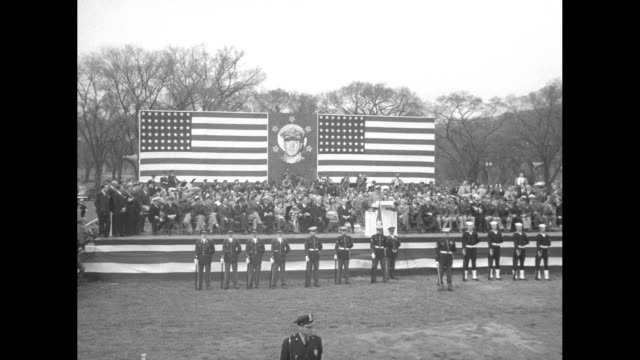 general douglas macarthur honored upon return to us after having been relieved of his commands /ms macarthur son arthur and wife jean get in limo... - 1951 stock videos & royalty-free footage