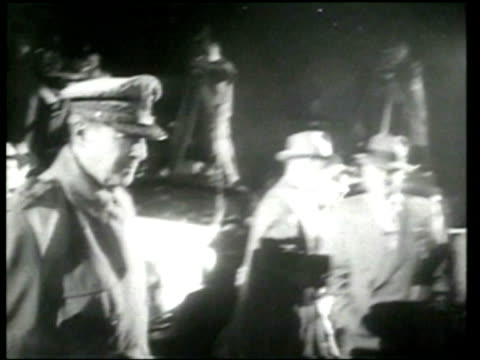 General Douglas MacArthur returns to the United States first to San Francisco then to address Congress with his famous Old Soldiers speech