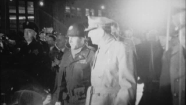general douglas macarthur walking after getting off plane / usa - general macarthur stock videos and b-roll footage