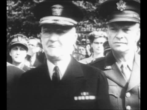 general dwight eisenhower and other officials including a female officer walk at military gathering in north africa eisenhower and other officer... - british military stock videos & royalty-free footage