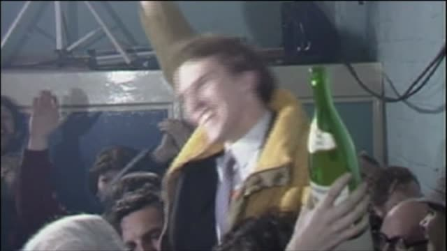 stockvideo's en b-roll-footage met 10 key seats to watch bermondsey and old southwark 1983 int simon hughes election victory - bermondsey