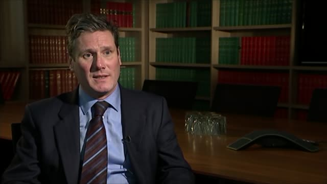 key seats to watch: holborn and st pancras; int keir starmer into chambers entrance with reporter/ keir starmer interview sot cutaway - keir starmer... - kentish town bildbanksvideor och videomaterial från bakom kulisserna