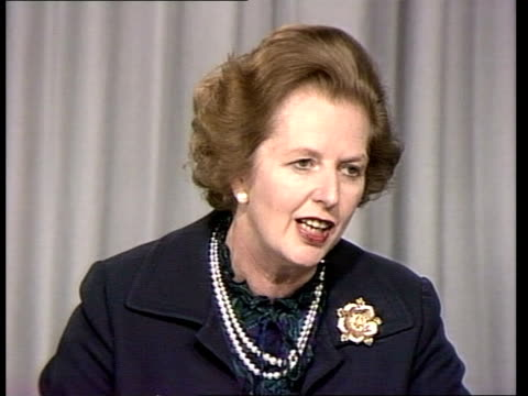 Thatcher rejects idea of opeing Admiralty records to clarify Belgrano argument ENGLAND London Conservative Central Office PHOTOGRAPHY** Margaret...