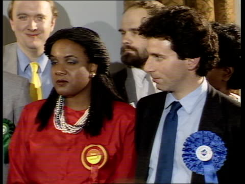 hackney north stoke newington dianne abbott england london hackney town hall *no astons* ms candidates standing as asian returning officer sof quoti... - general election stock videos & royalty-free footage