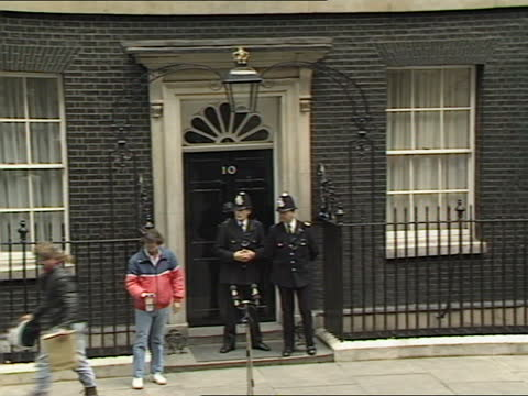 general election 1987: margaret thatcher live interview at no 10; england: london: westminster: downing street: number 10: int margaret thatcher mp... - choosing stock videos & royalty-free footage