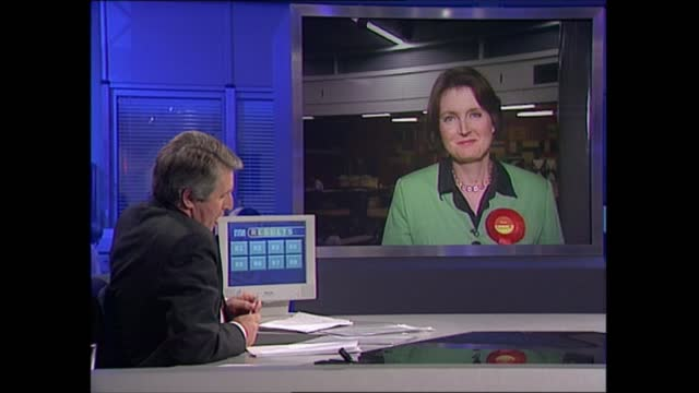 general election 1997: special: 00.00 - 01.00:; england: london: gir: int studio jonathan dimbleby and michael brunson studio david butler studio... - david dimbleby stock videos & royalty-free footage