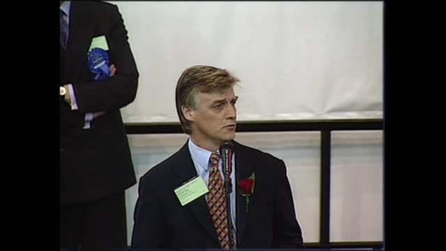 general election 1997: special: 00.00 - 01.00:; england: london: mitcham: int helen wright live u'lay: merseyside: southport: declaration - ronald... - david dimbleby stock videos & royalty-free footage