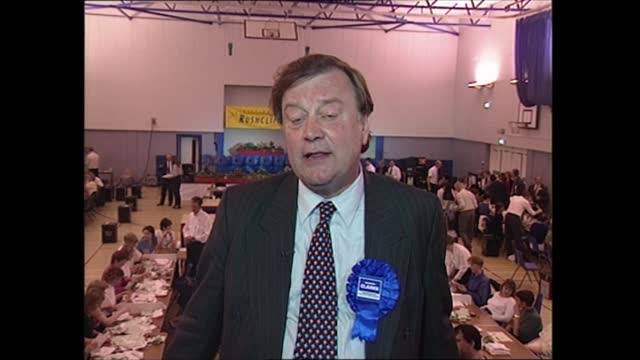 general election 1997: special: 00.00 - 01.00:; england: nottinghamshire: rushcliffe: int kenneth clarke intvwd part 2 of 2 - we wasted two weeks on... - coworker stock videos & royalty-free footage