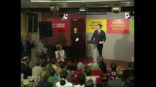 general election 1997: special: 02.00 - 03.00:; part 1 of 2 england: sedgefield: trimdon labour club: int tony blair speech sot - you know me - i'm... - new age stock videos & royalty-free footage