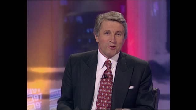 general election 1997: special: 03.00 - 04.00:; england: london: gir: int studio jonathan dimbleby studio michael brunson studio alasdair stewart... - david dimbleby stock videos & royalty-free footage