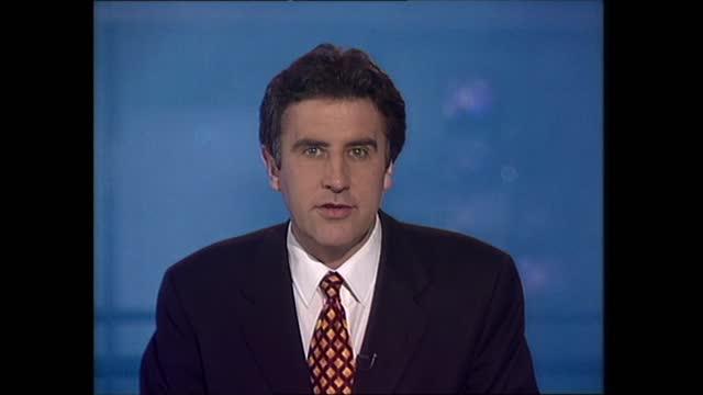general election 1997: special: 10.00 - 11.00:; england: london: gir: int studio jonathan dimbleby studio dermot murnaghan summary - dermot murnaghan stock videos & royalty-free footage