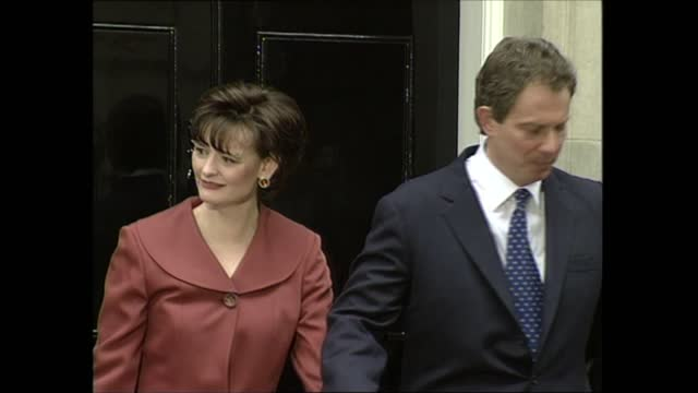 general election 1997: special: 13.00 - 14.00; england: london: downing st: ext tony blair speech sot. - for 18 long years my party has been in... - 10 11 years stock videos & royalty-free footage