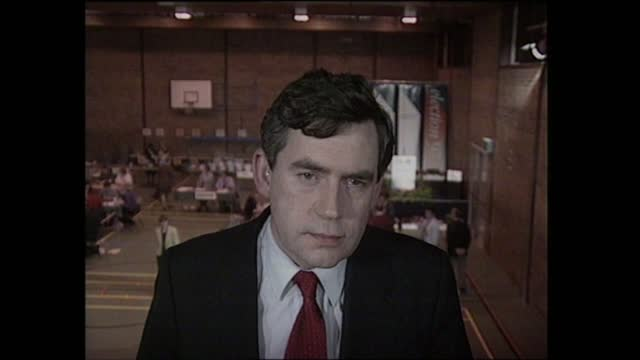 general election 1997: special: 23.00 - 00.00:; england: london: gir: int studio jonathan dimbleby and michael brunson studio discussion studio david... - david dimbleby stock videos & royalty-free footage