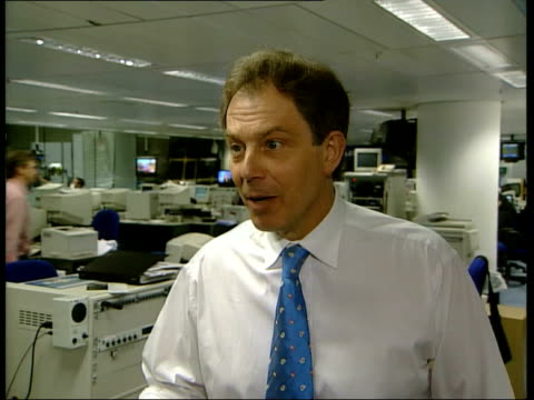 general election 2001: campaigns; hertfordshire prime minister tony blair talking with staff on hospital ward staff talking to blair blair standing... - labour party stock videos & royalty-free footage