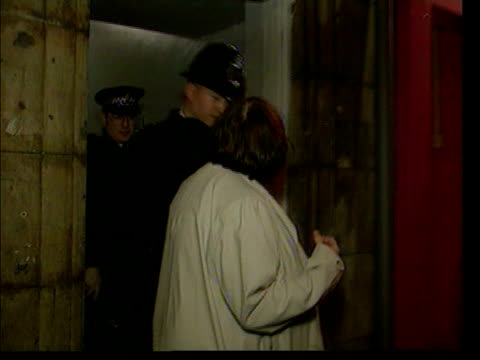 general election 2001: law and order; lib ???: at night shadow home secretary ann widdecombe along with police officers on patrol widdecombe and... - ann widdecombe stock videos & royalty-free footage