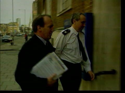 general election 2001: law and order; lib ???: liberal democrat home affairs spokesman simon hughes into police station - spokesman stock videos & royalty-free footage