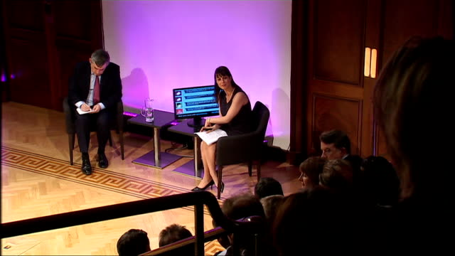 general election 2010: brown speech at royal institute; q&a session brown answers questions on making sure bankers are aware of their... - responsibility stock videos & royalty-free footage