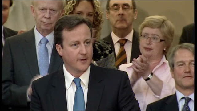 general election 2010: cameron in northern ireland; - we need great change in our politics too. the scandals at westminster and the recent... - nordirland stock-videos und b-roll-filmmaterial