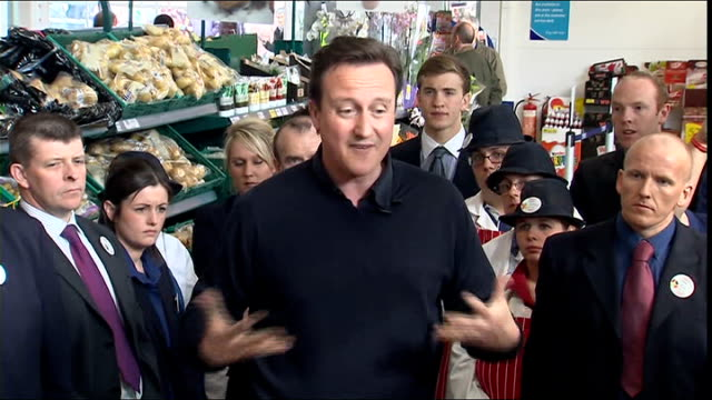 Cameron visits Tescos Q paying maintenance Cameron reply SOT should get fathers to pay maintenance / there is some unfairness in system / should do...