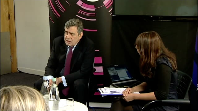 general election 2010: campaigning continues: gordon brown bbc radio q&a session; gordon brown mp q&a session with bbc radio 1 newsbeat and bbc radio... - bbc radio stock videos & royalty-free footage