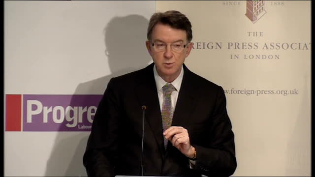 vídeos de stock, filmes e b-roll de campaigning mandelson speech on choices facing britain but what we need is a new business model for britain a government with a clear strategic view... - model t